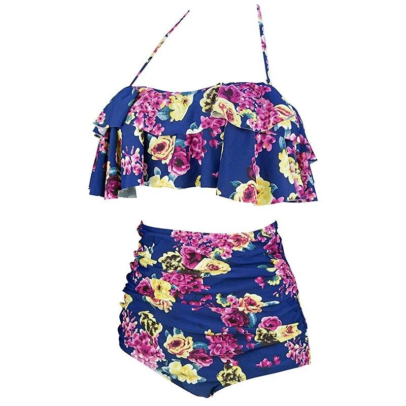 He803b04dd179427d87f2c960a1e379a6M 2019 New Bikinis Women Swimsuit High Waist Bathing Suit Plus Size Swimwear Push Up Bikini Set Vintage Beach Wear Biquini