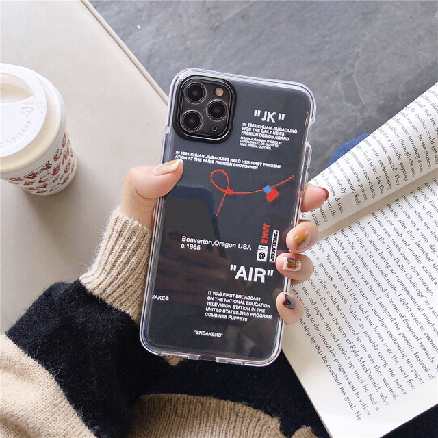 Hot Off Street sport Trend Brand clear Soft Silicon phone case for iPhone 11 Pro X XS MAX 12 mini 7 8 plus ins white label Cover 2