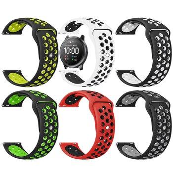 Correa de silicona de doble Color para Haylou Solar LS05, Correa deportiva para relojes inteligentes XiaoMi Haylou Solar