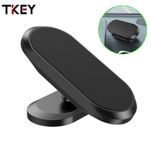 TKEY Magnetic Car Phone Holder Dashboard Magnet Phone Stand For iPhone Max Xiaomi Zinc Alloy Magnet GPS Car Mobile phone Mount