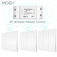 Smart Drukknop RF433 110V 220V Ontvanger Wifi Draadloze Afstandsbediening Smart Leven/Tuya APP, werkt met Alexa Google Thuis.