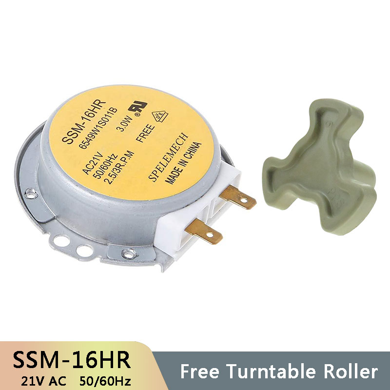 SSM-16HR AC21V 3W 50/60Hz Micro Turntable Synchronous Tray Motor Microwave Oven Accessories Spares Parts Core Coupling Clutch