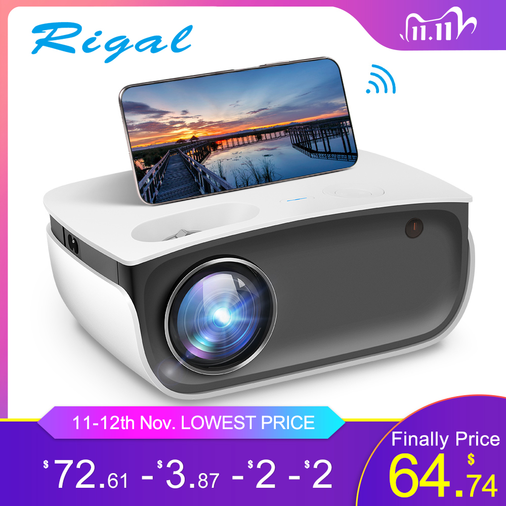 Rigal RD850 Mini Projector Native 720P WiFi Proyector Android IOS Smartphone for 1080P Video HD LED Projetor Home Theater Beamer