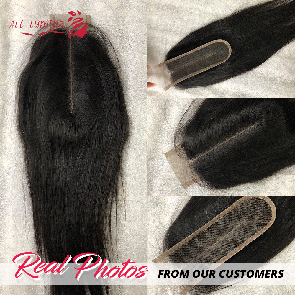 Kim K Closure   Middle Part Lace Closure Straight Natural Color 2x6 Closure Body Wave  With Baby Hair 5