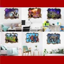Fortress night fortnites adesivos de parede ambientalmente amigável pvc decoração da parede quarto casa adesivos poster presente