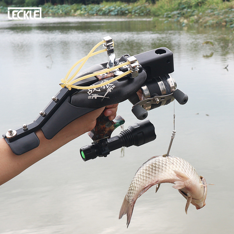 Laser Stainless Steel Fishing Slingshot Set With Infrared Targeting For Outdoor Hunting Shooting Can Using Steel Balls And Arrow