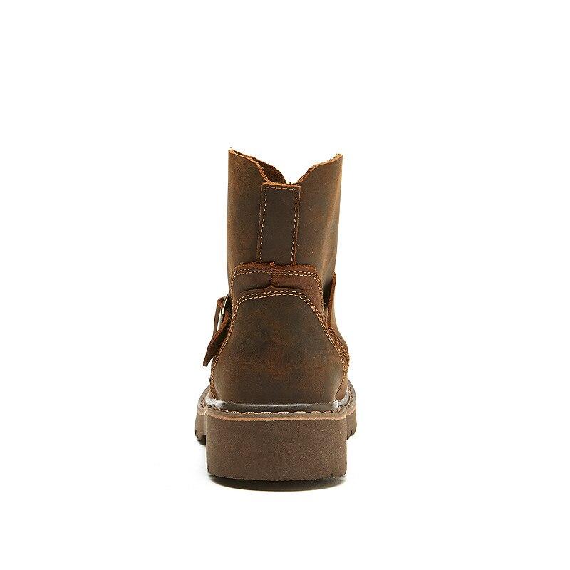 Водонепроницаемые ботинки в байкерском стиле; Мужские ботинки в байкерском стиле с черепом; армейские ботинки; Кожаные Ботинки martin в стиле ... - 3