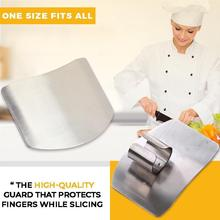 Stainless Steel Finger Protector Slice Safe Guard Kitchen Cooking Products Gadgets Cut Vegetable Knives Kitchen Accessories