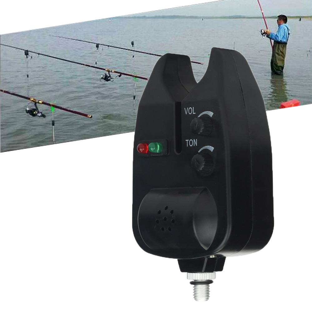 2 LED Adjustable Tone Volume Sensitivity Sound Alert Fishing Bite Alarm Water Resistant Fishing Alarm Fishing Rod Swingers