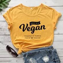 Camiseta vegana para mujer. Camiseta hipster informal de algodón con estampado, camiseta con lema de