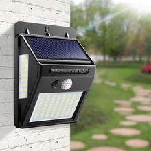 Уличный светодиодный настенный светильник на солнечной батарее, освещение крыльца, ночной датчик, датчик движения PIR, Солнечная лампа, дорожка, забор, сад, авто, вкл