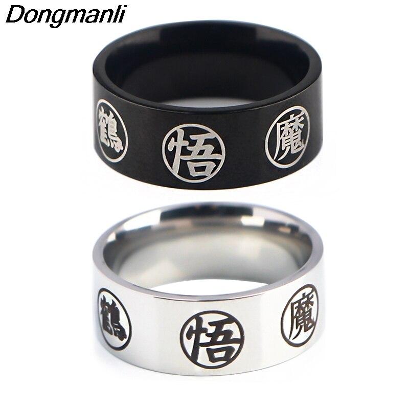 P4559 Dongmanli модный стиль аниме ретро мужские ювелирные изделия кольцо черный, серебристый цвет винтажные кольца для женщин