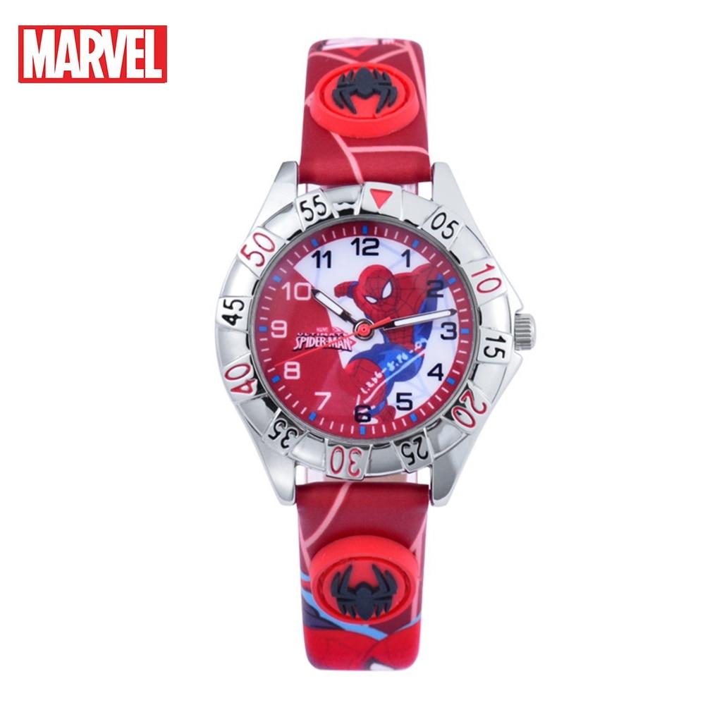 Fashion Children Watch Round Dial Kid Watches Boys MARVEL Hero Clock Student Quartz Wristwatch Spider Men Luxury Time Child Gift