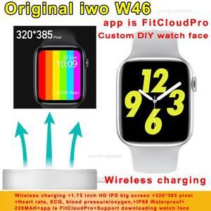 Smart-Watch Body-Temperature W26-Upgrade Iwo W46 Wireless Ip68 Waterproof Charging-Ecg-Heart-Rate