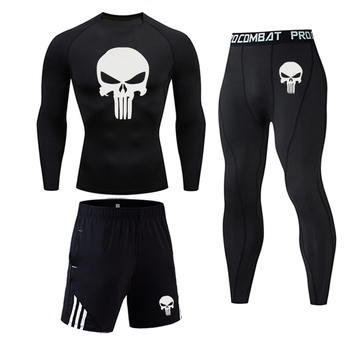 Men's Thermal underwear Set MMA Tactics Fitness leggings base skull Compression Sports underwear long johns Men Clothing Brand underwear brand menswear thermal underwear skull 3d pattern printing rashgard kit man tracksuit thermal underwear base layer 4xl