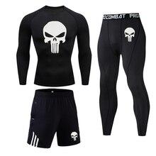 Men's Long Underwear Set Fitness training leggings base layer Compression clothi