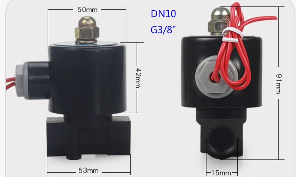 He80519601ffb4ae087adf47fe209d3b73 - DN08/10/15/20/25/32/40/50   AC 110V AC 220V DC 12V DC 24V Plastic normally closed solenoid valve water valve switching valve