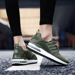 Image 2 - QGK 2020 yeni erkek spor ayakkabı erkekler kauçuk siyah koşu ayakkabıları ordu yeşil nefes örgü spor ayakkabılar erkek kadın kadın pembe Sneakers