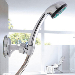 Shower Head Handset Holder Chrome Plastic Wall Mount Adjustable Suction Cup Shower Holder Rack Bracket Bathroom Accessories