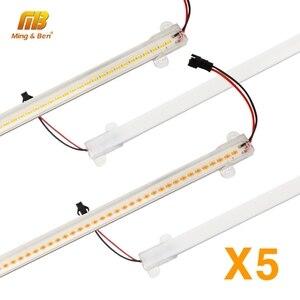 5Pcs Wall Corner LED Bar Light 72LEDs High Brightness LED Strip Clear Shell Milky White Shell 30cm 50cm LED Kitchen Lighting