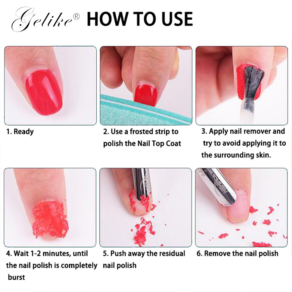 Gelike 15ml Burst Gel Polish Magic Remover Soak Off Nail Degreaser Cleaner Liquid UV Gel Lacquer Remover 2 5 min Manicure in Nail Polish Remover from Beauty Health
