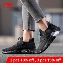 لى نينغ النساء إعادة صالح نمط الحياة الأحذية تنفس أحادية الغزل بطانة لى نينغ أحذية رياضية خفيفة اللياقة البدنية أحذية رياضية AGLN068 YXB207