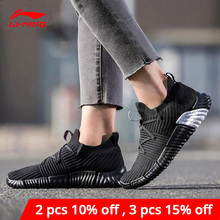 Li Ning Women RE FIT Lifestyle Shoes Breathable Mono Yarn LiNing li ning Light Sport Shoes Fitness Sneakers AGLN068 YXB207