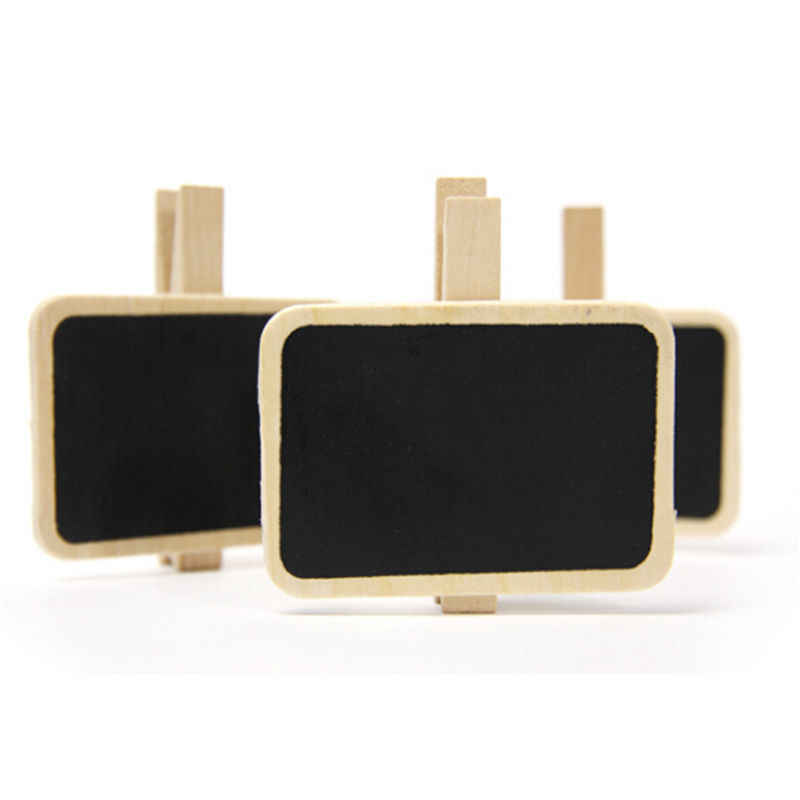 1pc Wooden Blackboard Clips Mini Clip for Photo Paper Decoration School Office Supplies Stationery Gift