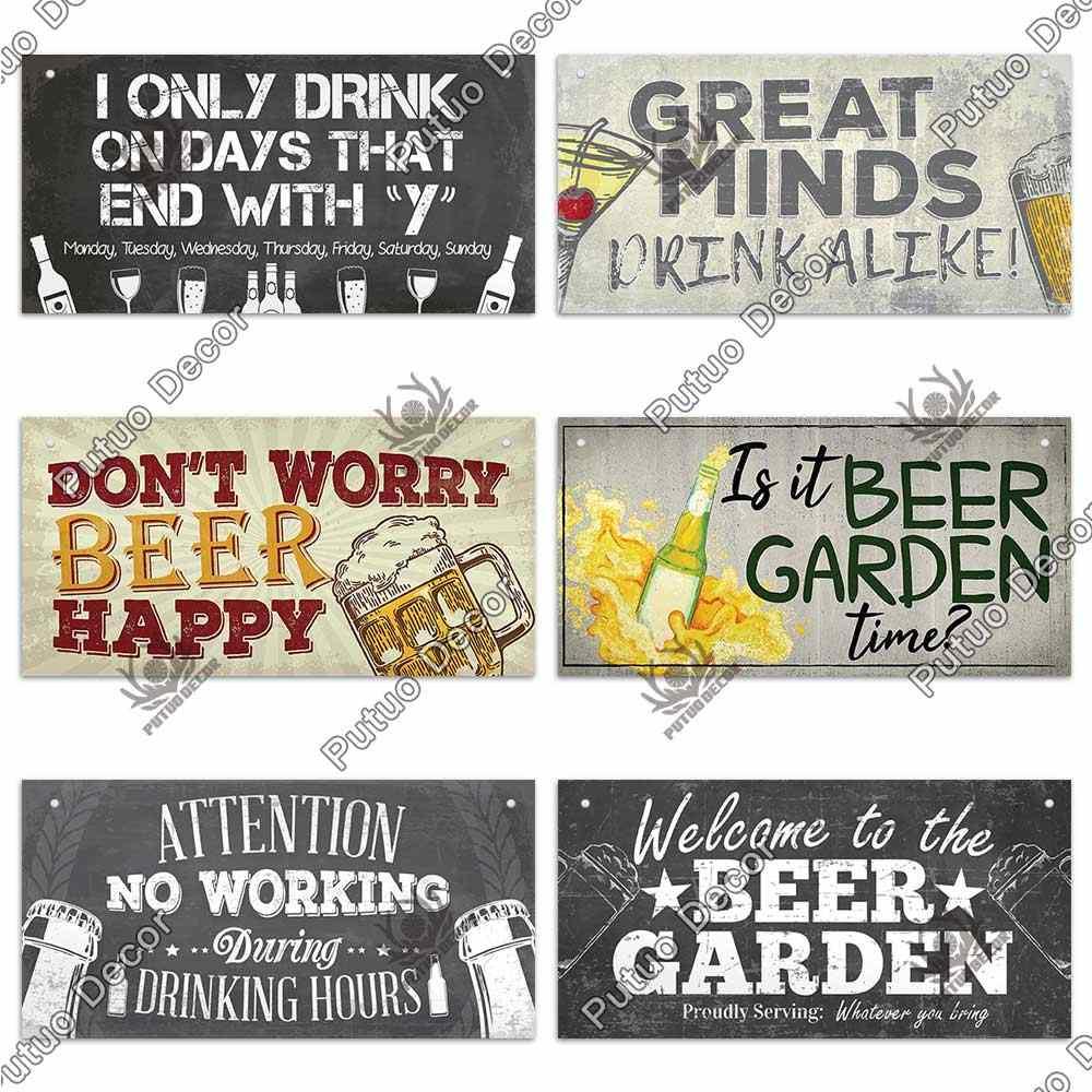 Álcool Bar de cerveja Cotação De Madeira Novidade Placa Sinal Presente fcp4