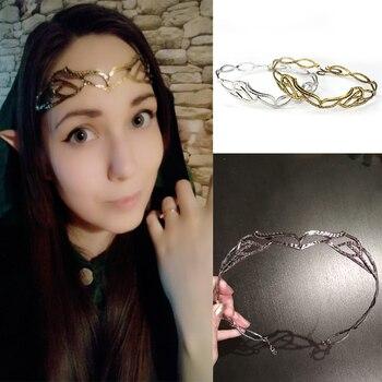 Женские аксессуары для волос в стиле ретро Arwen Evenstar Корона Свадебная повязка на голову Свадебные украшения для волос принцессы        АлиЭкспресс