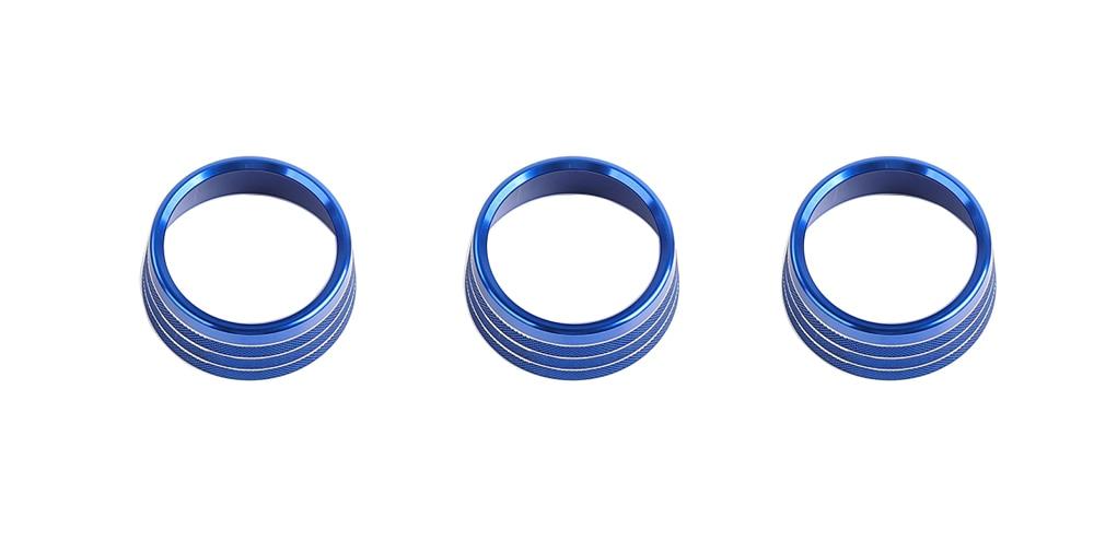 blu Lega di alluminio aria condizionata pulsante manopola decorazione copertura Trim per SUZUKI Jimny 2018+