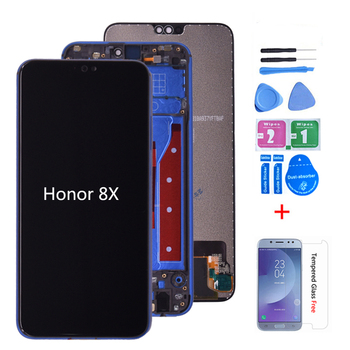 Оригинал для Huawei Honor 8X JSN-AL00 JSN-L22 Полный ЖК-дисплей + сенсорный экран дигитайзер сборка Замена