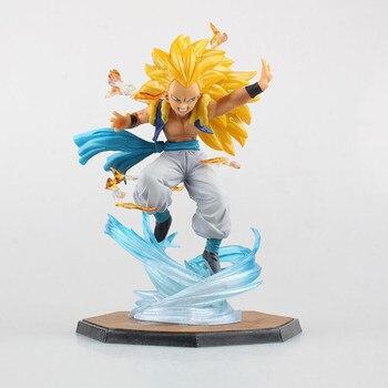 цена на Anime Figurine Super Saiyan 3 Gotenks PVC Action Figure DBZ Dragon Ball Z Collectible Model Toy brinqudoes 16cm