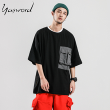 Yasword Dreamer Summer New Causal Short Sleeve T-shirt Men Back Print Fashion 100% Cotton Tshirt Plus Size Brand Clothing