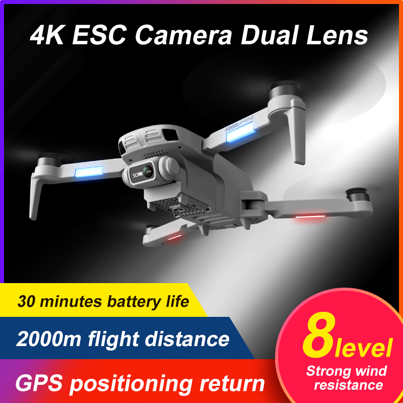 GPS Drone 4K Professional with Dual Camera 5Km Long Distance Brushless 30mins 5G WiFi FPV Foldable Quadcopter Dron PK SG906 2