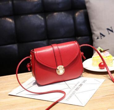 2020 Franbrani  Tui Hot Handbag PU Pure Color Single Shoulder Bag Lady Temperament Small Square Bag Satchel A