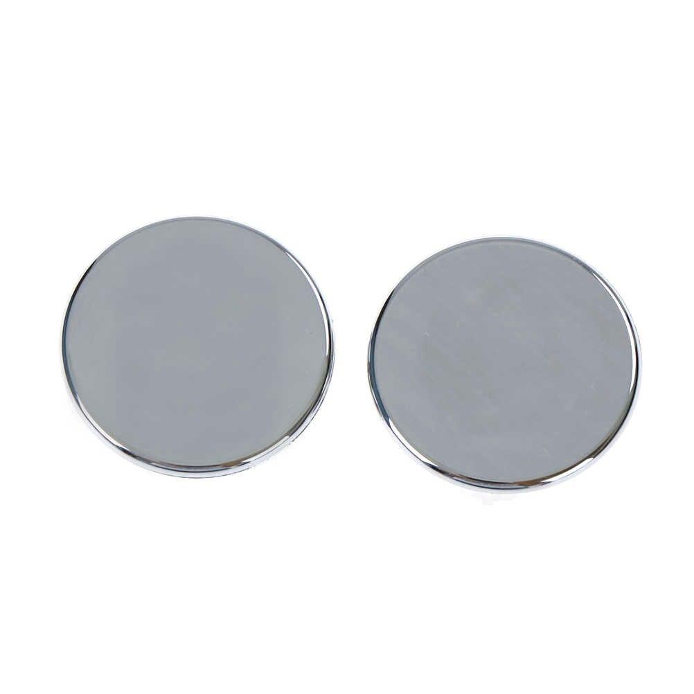 Wastafel Ronde Overloop Cover Ring Insert Vervanging Netjes Chrome Trim Badkamer Accessoires Overloop ring 2 stuks
