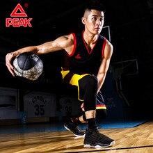 Peak basketball shoes men's 2020 spring one-piece woven half