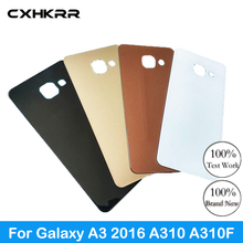 For Samsung Galaxy A310 A310F Back Cover Battery Case 3D Glass Rear Housing Cover For Samsung A3 2016,Rear Door Case Replacement стоимость