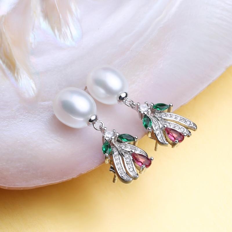 FENASY 925 Sterling Silver Stud Earrings Natural Freshwater Pearl Earrings For Women Fashion Evening Party Wedding Fine Jewelry