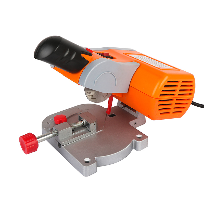 45 Degree Mini Cutting Machine Bench Cut-off Saw Steel Blade Diy Tools For Cutting Metal Wood Plastic With Adjust Miter Gauge
