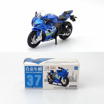 Caipo 1:18 Suzuki GSX-R1000 Alloy&Plastic Motorcycle For Boy Toy Collection Friend Children Gift image