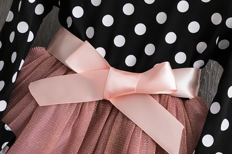 He8064d3a911f492395eb2b58a06036a0t 2019 Autumn Winter Girl Dress Long Sleeve Polka Dot Girls Dresses Bow Princess Teenage Casual Dress Daily Kids Dresses For Girls