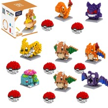 Pokemon blocks pokemon children Pikachu diamond particle blocks puzzle toy