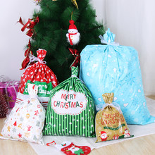 2PCS/Pack New Year Christmas Candy Bags Gift Cookies Wrapping Goodie Bags Favor Pouches for Xmas Party Wedding Supplies New 2020(China)