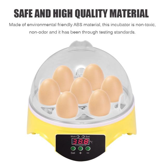7 Eggs Capacity Chicken Eggs Bird Incubator Egg Rack Tray Automatic Intelligent Control Quail Parrot Incubation Tool UK Plug 5
