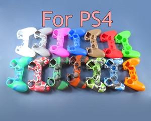 Image 1 - 10pcs אנטי להחליק צבעוני סיליקון בקר מקרה עבור Dualshock 4 PS4 DS4 פרו Slim Gamepad עור מקרה בקר