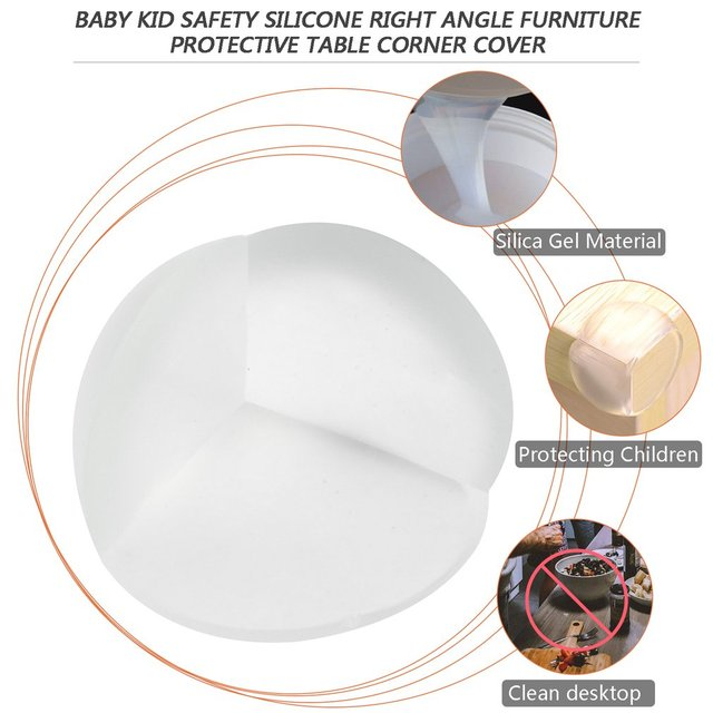 Transparent safety corner protector, table corner protection for babies with 1 pieces 5