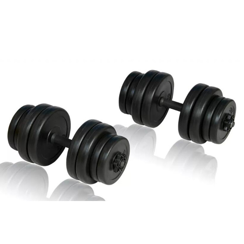 2pcs Total 30kg Men Arm Muscle Fitness Dumbbell Set Adjustable Dumbbells Filled With Sand Weightlifting Bodybuilding Workout Gym