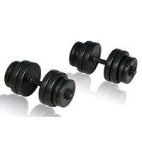 2pcs Total 30kg Men Arm Muscle Fitness Dumbbell Set Adjustable Dumbbells Filled with Sand Weightlifting Bodybuilding Workout Gym
